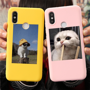 Cute Cat Case For Xiaomi Mi A3 8 9 Lite Note 10 9 SE 9T CC9 Pro CC9e Play Lovely Etui For Redmi Note 9s 9 8 7 8T Pro Max Cover