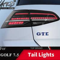 Car Styling lampa tylna do VW Golf 7 Golf 7.5 MK7.5 2017-2019 światło tylne led tylna lampa DRL dynamiczny sygnał hamulca Auto akcesoria