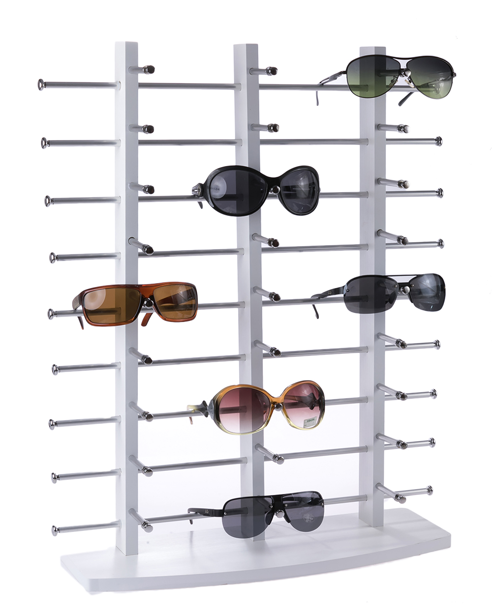 24 27 Pairs Of Wood Sunglasses Reading Glasses Display Stand Holder Prop
