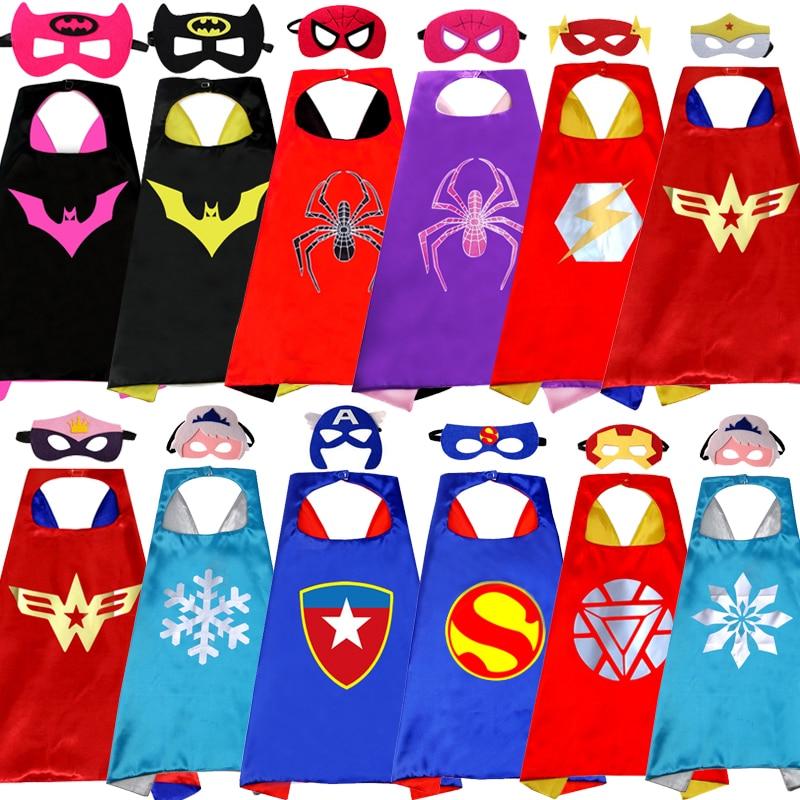 Manufacturers supply children's cartoon hero cloak custom wholesale new double Halloween superman cloak(China)