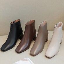 Buty damskie skóra naturalna skóra owcza górna + podszewka ze świńskiej wkładki buty kobieta jesień buty botki dla kobiet 4 kolory