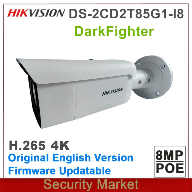 Original Hikvision DS 2CD2T85G1 I8 Replace DS 2CD2T85FWD I8 8MP Network Bullet POE IR 80m IP CCTV Metwork Camera