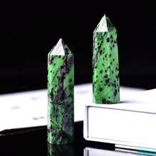 1pc cristal natural coluna de epidote ponto de cristal quartzo mineral pedra cura obelisco varinha decoração para casa diy presente decoração reiki