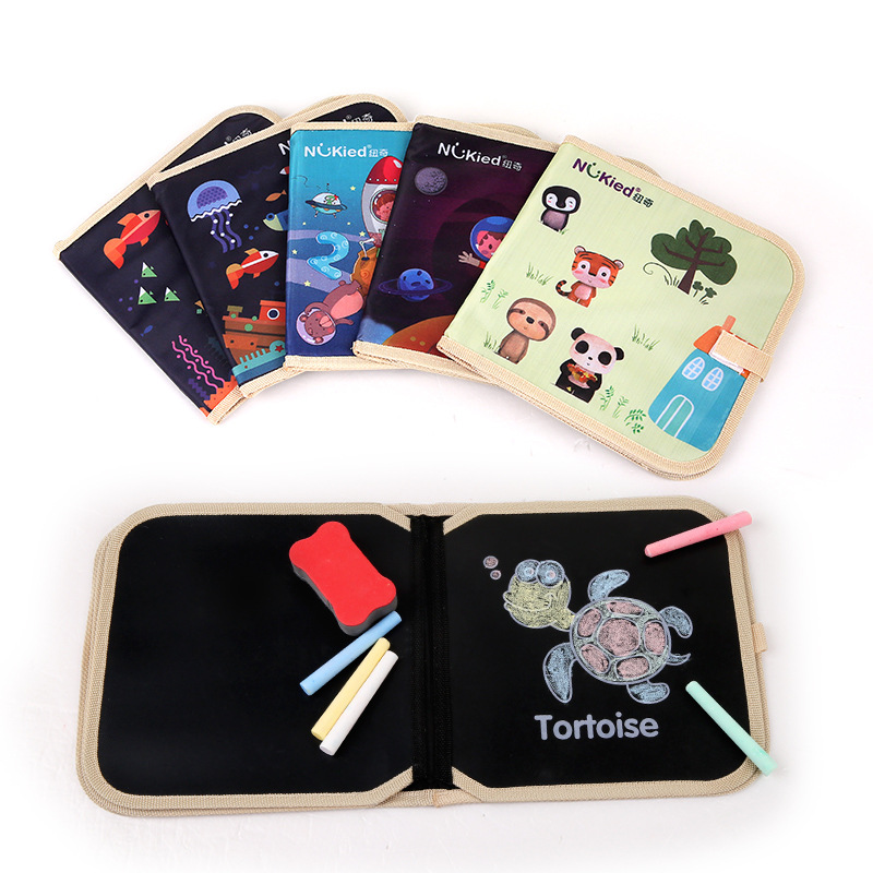 Hong Kong NUKied Chalk Small Drawing Book Color Graffiti Baby Portable Doing Homework Cognitive With Numbers 1-3-Year-Old Educat