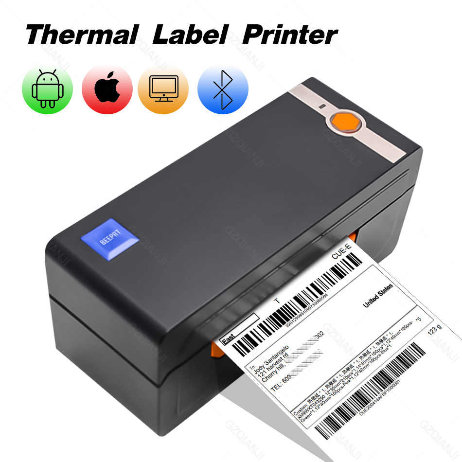 4 Inch Thermal Barcode Label Sticker Printer Commercial Grade Bluetooth Printer Compatible With Ebay Amazon Barcode 4x6 Printer Aliexpress