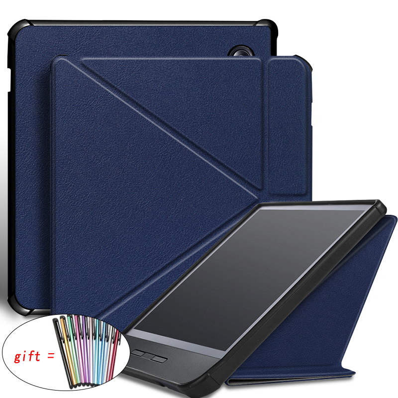 Ímã caso para 2019 kobo libra h2o 7777inch inteligente capa funda capa protetora para e-book para kobo libra h2o 2019 7.0 + caneta stylus