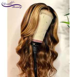Image 5 - Highlight Lace Front Human Hair Wigs With Baby Hair 13*4/13*6 Remy Body Wave Lace Wig For Women