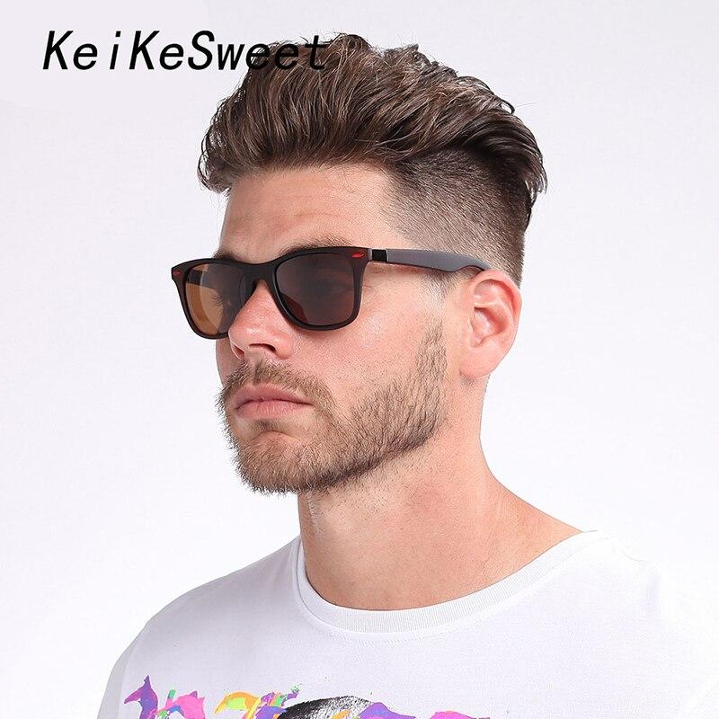 KeiKeSweet поляризованные Брендовая Дизайнерская обувь роскошные солнцезащитные очки Для мужчин лучей UV400 на открытом воздухе вождения вечерни...
