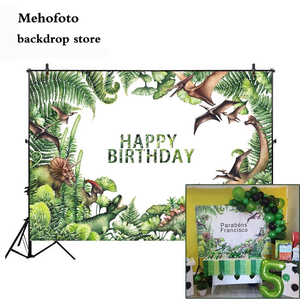 Mehofoto Jurassic World Dinosaur Party Background For Photo Photography Backdrop Newborn Happy Birthday Theme Decoration 946