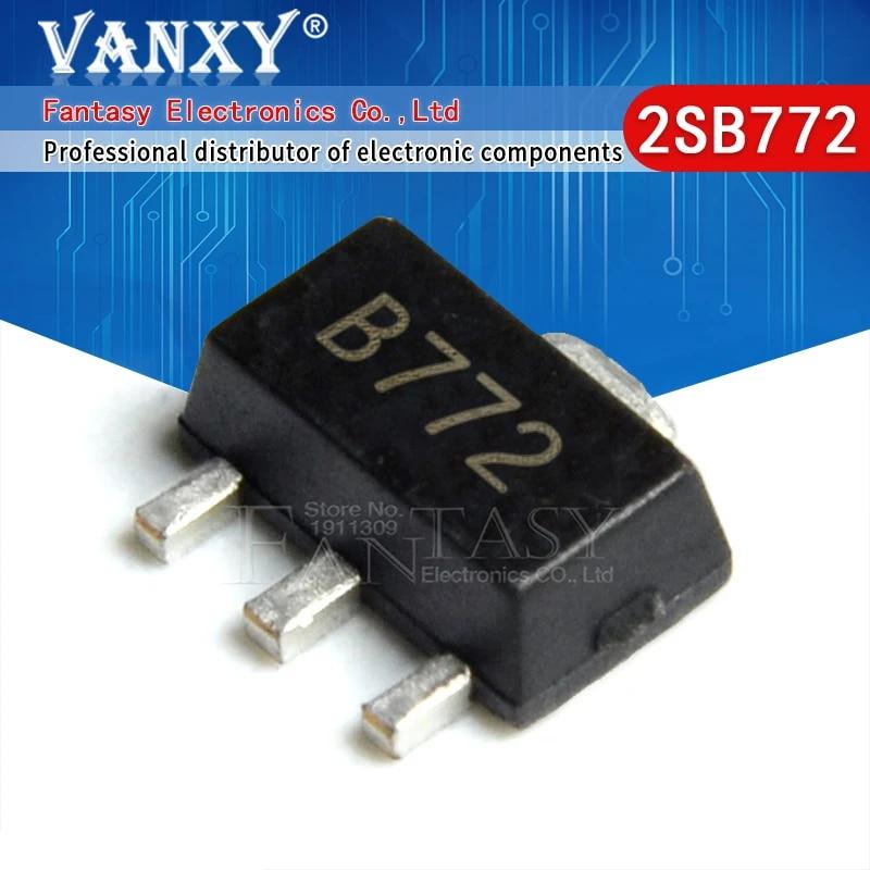 100pcs SOT-252 2SB772 B772M B772 Audio Amplifier Switch SMD