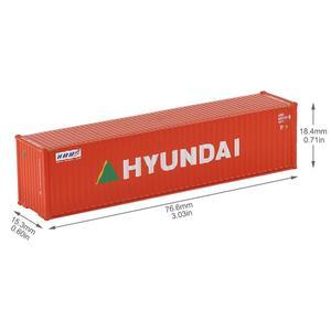 Image 4 - 10 шт 40 футовые контейнеры 1:150 контейнер для перевозки с магнитом грузовой автомобиль N Масштаб модели поезда Лот C15008 железнодорожное моделирование
