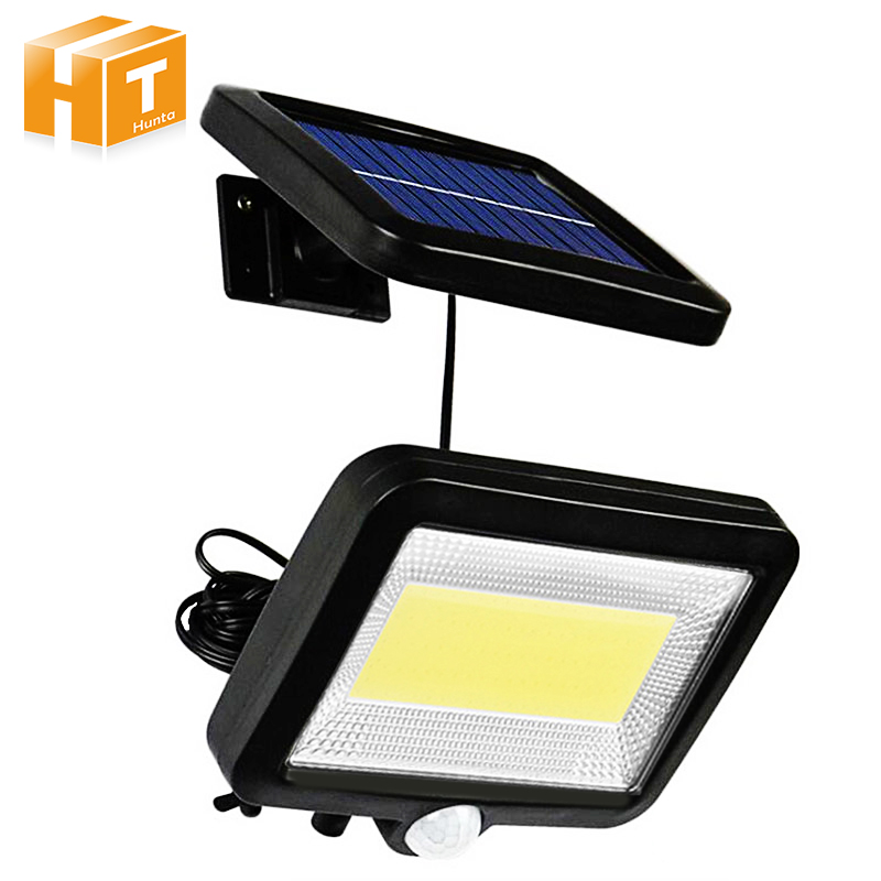 Solar LED Street Light 56LEDs / COB 100LEDs Outdoor LED Floodlight with PIR Motion Sensor Waterproof Spotlights Street Lamp