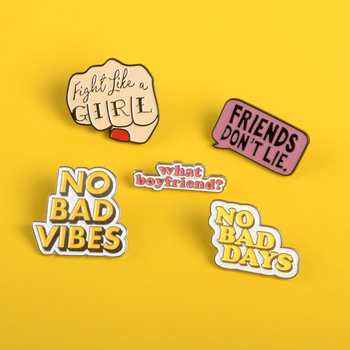 Statement icon Pin Express your thoughts Of IdeasxxxxEnamel brooches denim backpack Lapel Jewelry Gift for Encourage friend image