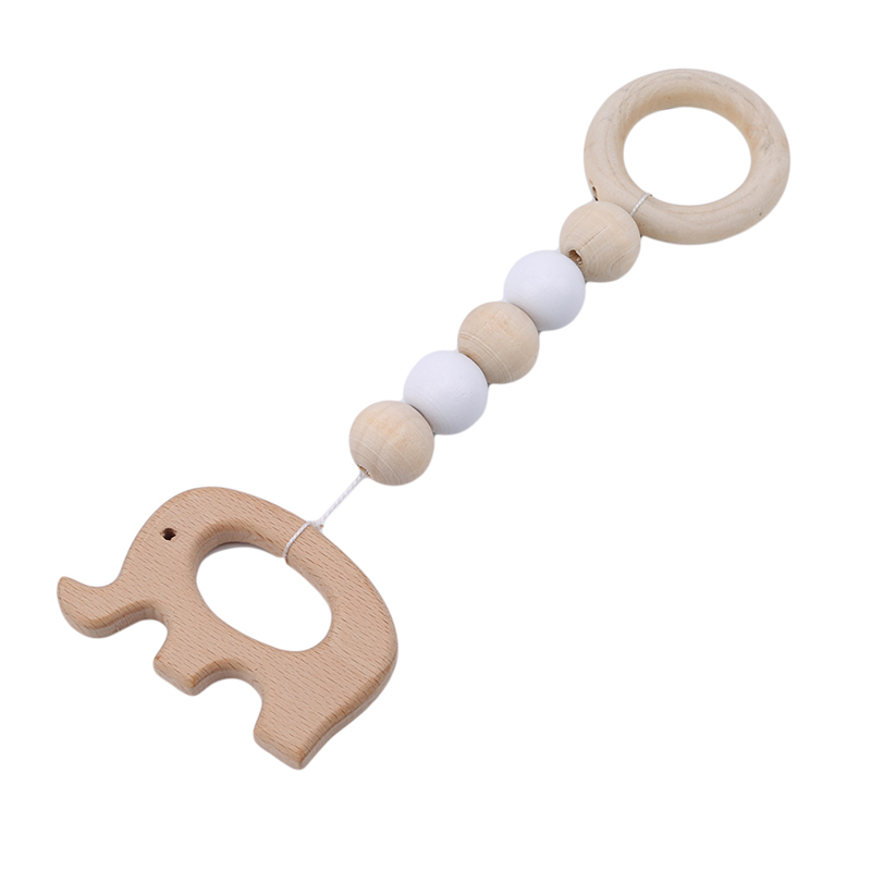 2019 Baby Wooden Beads Silicone Accessories  Infant Nursing Silicone Teething Tooth Training Accessories Baby Care