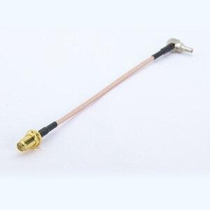Image 5 - 100 יח\חבילה SMA כדי CRC9 RG316 RF כבל SMA שקע נקבת CRC9 זכר זווית נכונה RF קואקסיאלי כבל צמת 15 cm/50 cm/100 cm