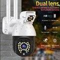 1080P Беспроводной Wi-Fi IP Смарт Секьюрити, Камера Двойной объектив ИК IP камера CCTV 29 шт. светодиодный Ночное видение сети Камера для использовани...