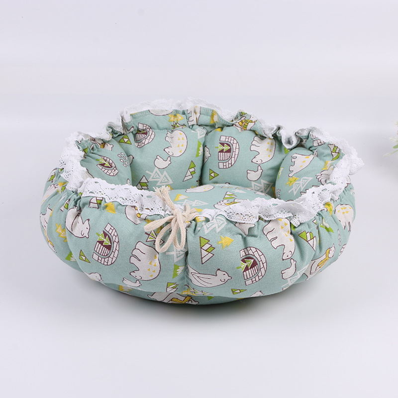 Pet Dog Nest flower Bud Nest Pumpkin Nest Small Dog Kennel Cat Nest Pet Mat Sleep Nest For Cat Teddy Chihuahua Bed 16