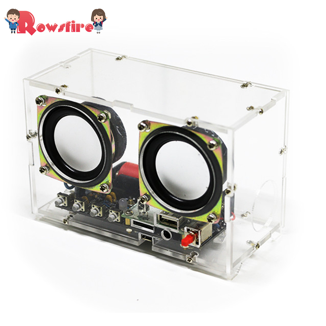 DIY Welding Electronic Bulk Parts Mini Electronic Bluetooth Speaker Kit (Remote Control, Colorful Changing, USB Power Supply)