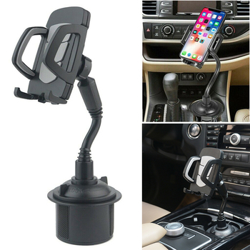New Universal 360 Degree Adjustable Car Phone Mount Gooseneck Cup Holder Stand Cradle for Cell Phone IPhone GPS