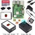 Raspberry Pi 3 modèle B + 3.5 pouces écran tactile LCD + boîtier ABS + 32GB carte SD + adaptateur secteur 3A + dissipateurs + HDMI pour RPI 3B +