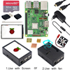 Raspberry Pi 3 Model B + ABS Case + 32GB SD Card + Power Adapter + Heatsinks + Optional 3.5 inch Touchscreen or HDMI for RPI 3B+