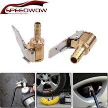 SPEEDWOW 1 stücke Auto Luftpumpe Futter Clip Auto Lkw Reifen Reifen Inflator Ventil Stecker Auto Zubehör 6mm 8mm Clamp Hohe Qualität