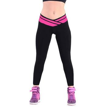 New Fashion Ladies Women Stretch Solid Long Sport Casual Red, Pink, Grey, Sky Blue, Dark Blue Leggings image