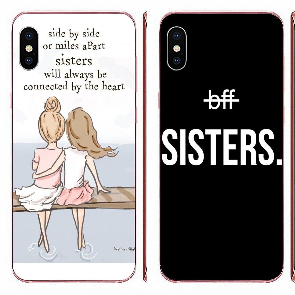 Best Friends <font><b>Bff</b></font> Sisters For Huawei Honor 5C 5X 6A 6X 7 7A 7X 8 8A 8S 8X 9 10 30 Lite Pro Y6 II Y7 Y9 Prime 2019 Soft Pattern image
