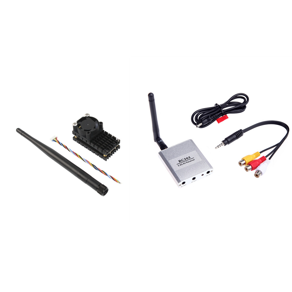 Boscam FPV 5.8G 5.8Ghz 2W 2000mW 24 Channels Wireless Audio Video AV Transmitter <font><b>TS582000</b></font> and Receiver RC305 Combo image