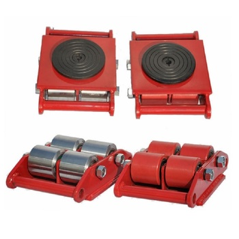 6T 8T 12T 15T 24T 30T 40T industrial machinery mover roller dolly skate tank cargo trolley lifting machiney tools