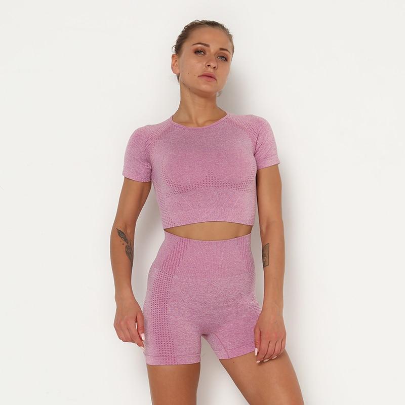 H38b8f9b075364c2a8888bd5c2ee21930Y Kaminsky 14 Colors High Waist Seamless Leggings For Women Solid Push Up Leggins Athletic Sweat Pants Sportswear Fitness Leggings