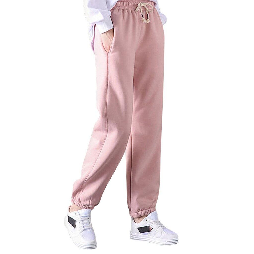 Thick Lambskin Cashmere Women Pants 2019 Winter Warm Harem Pants Casual Elastic Waist Loose Sweatpants Cotton Trousers #35