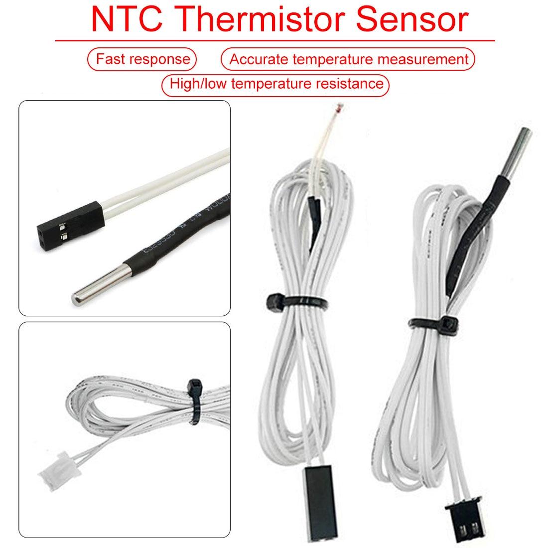1M/2M HT-NTC100K Thermistor Temperature Sensor For High Temperature Filament 350 Degrees Hotend Kit For 3D Printer Parts