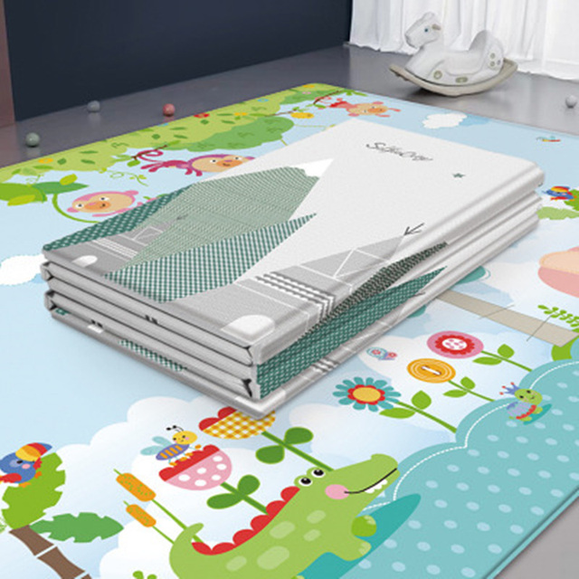 Baby Folding Puzzle Mat Play Mat Extra Large Foam Double Sides Playmat Crawl Pad Reversible Waterproof Portable Kids Rug