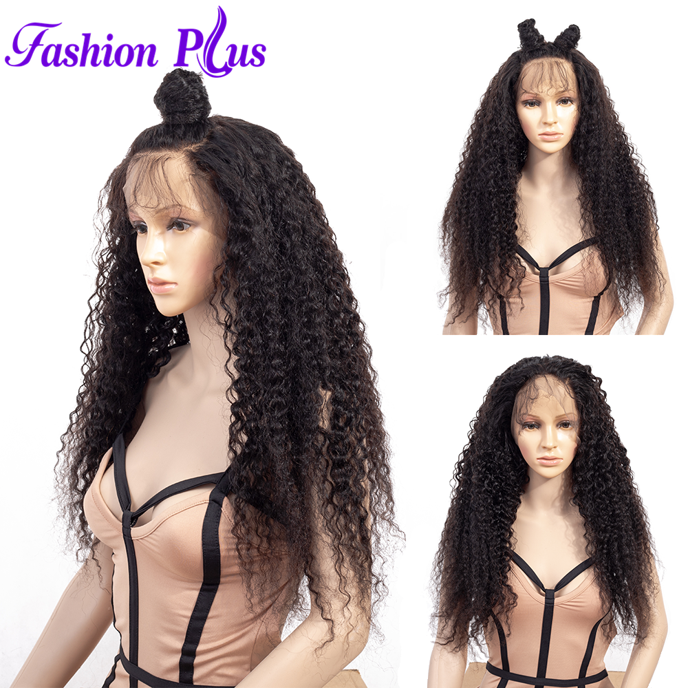 Full Lace Wigs Curly Wigs With Baby Hair For Women 150% Density Remy Brazilian Human Hair Transparent Mediem Brown Lace