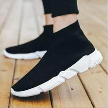 sets of feet couples sneakers men's and women's high-cut short boots knit stretch socks shoes(China)