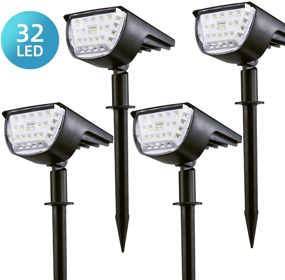32 LED Solar Landscape Spotlights Lights Outdoor IP65 Waterproof Wireless for Garden lighting