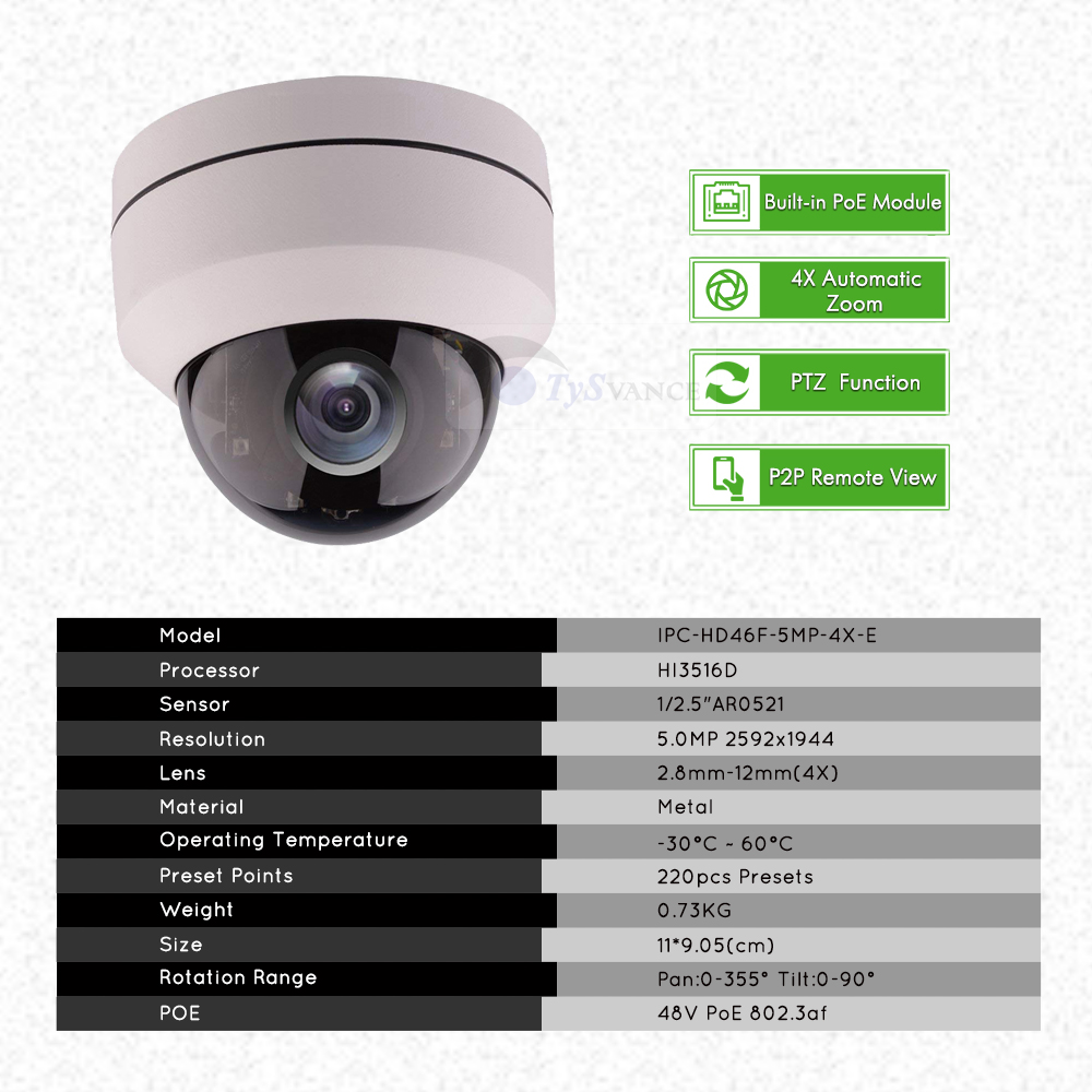 Image 2 - 4ch 5MP POE PTZ System Kit H.265 CCTV Security 8ch NVR Indoor Waterproof 2.8 12mm 4X Optical Zoom IP Camera Surveillance Video-in Surveillance System from Security & Protection