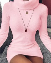 цена на New Spring Turtleneck Solid Sweaters Dress Women Long Sleeve Slim Streetwear Pullovers Oversized Sweater Pull