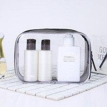 Водонепроницаемая прозрачная косметичка для ванной из ПВХ, женский косметический чехол на молнии для путешествий, косметичка, набор для Хранения Туалетных Принадлежностей