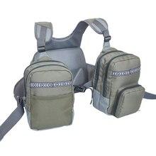 Рыболовный жилет с несколькими карманами, прочный жилет, рыболовный нагрудный рюкзак для рыбалки на открытом воздухе, рыболовные снасти и снаряжение