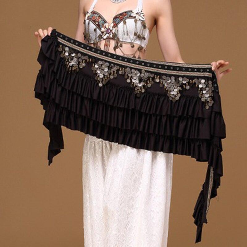 Танец живота поясная цепь Ретро атласная медная монета хип шарф громкий удлиненный шарф племенной пояс