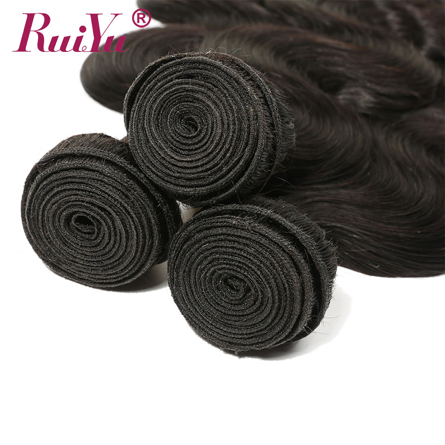 Peruvian Human Hair Bundles Body Wave bundles 8-28 Inch 1/3/4 Bundles Natural Color Non-Remy Hair Extensions RUIYU Hair