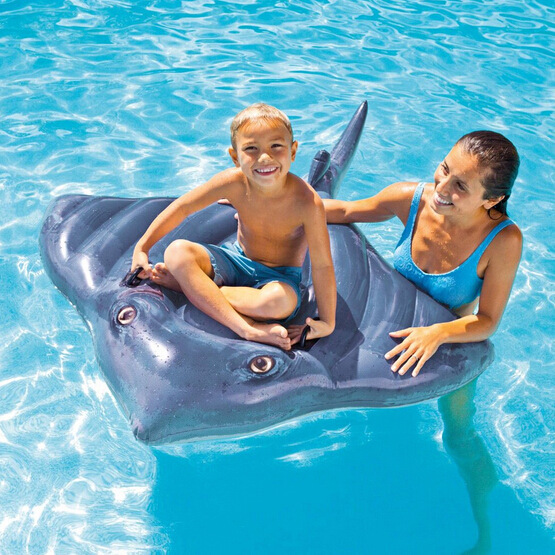 INTEX57550 Mink Fish Riding Realistic Skate Children Inflatable Water Riding Swimming Toy