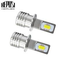 2x H1 H3 Led Fog Lamp Bulb Auto Car Motor Truck 12w 12V 24V White Yellow high power LED Bulbs Driving Running Light DRL