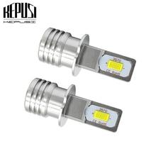 цена на 2x H1 H3 Led Fog Lamp Bulb Auto Car Motor Truck 12w 12V 24V White Yellow H3 H1 high power LED Bulbs Driving Running Light DRL