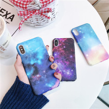 Fashion Starry sky Phone Cases For iPhone 7 8 6 6S Plus X Frosted Hard Phone Case For iPhone XS XR XS Max Leaves Back Cover Capa lacywear жакет gk 22 svm