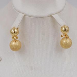 Image 5 - Hoge Kwaliteit Ltaly 750 Goud kleur Sieraden Voor Vrouwen afrikaanse kralen jewlery mode ketting set oorbel sieraden