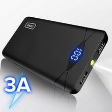 INIU 3A 10000 мАч светодиодный внешний аккумулятор с двумя usb-портами, портативное зарядное устройство, внешний аккумулятор для iPhone Xiaomi Mi телефона