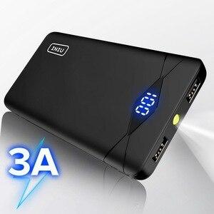 Image 1 - INIU 3A 10000mAh خزان طاقة مزود بإضاءة ليد مزدوج USB محمول شاحن باوربانك بطارية الهاتف الخارجي حزمة آيفون شياو mi mi لسامسونج